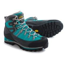 $179 Asolo Karaj GV Gore-Tex® Hiking Boots - Waterproof (For Women) in Graphite/Peacock - Closeouts