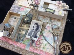 Botanical Tea Altered Art Canvas By: @dEniSe mARie Products used: Graphic 45 Botanical Tea papers, @Graphic 45® Matchbook Boxes