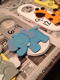 SO cute, closet dividers!  Would be really cute made with forest animals :)