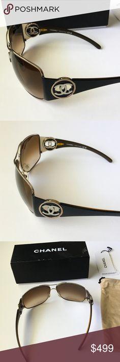 CHANEL Sunglasses Authentic CHANEL Sunglasses 4134 c.347/13 Lens Color Brown- Excellent condition! CHANEL Accessories Sunglasses