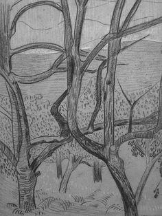 """SERUSIER Paul - Le Verger (Louvre RF40965-Recto) - Detail 18  -  TAGS/ details détail détails detalles drawing drawings dessins dessin croquis étude study studies sketch sketches """"dessins 19e"""" """"19th-century drawings"""" croquis étude study studies sketch sketches """"dessin français"""" """" French drawings"""" """"peintres français"""" """"French painters"""" Louvre Paris France Musée museum arbres tree trees trunk orchard grove nature"""
