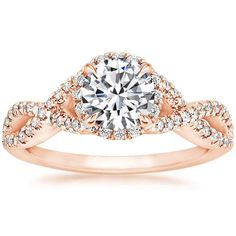 14K Rose Gold Entwined Halo Diamond Ring (1/3 ct. tw.) from Brilliant Earth