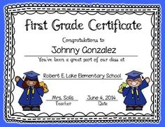 Graduation Certificates & Invitation - Editable (PreK, Kinder, 1st, & 2nd) Pre K Graduation, Preschool Graduation, Graduation Ideas, First Grade, Second Grade, End Of Year Activities, End Of School Year, Nursery School, Graduate School
