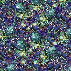 Dżersej Hiding Owl - Bawełna - Elastan - niebieska lilia