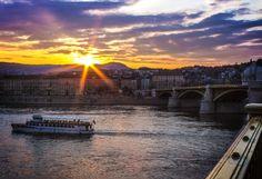 #bridge #budapest #city #cityscape #clouds #hungary #river #sky #sun #sunrise #sunset #water