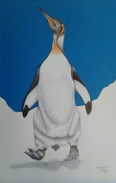 Pinguim  Arte na canetas esferográfica
