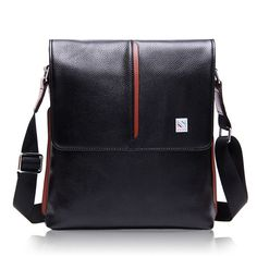 High-quality Men s Leather Casual Fashion Soft Surface Messenger Bags 189a2e585738f