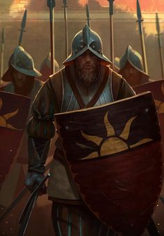 Empire Spearmen - Spearmen are amongst the three most common infantry types fielded by the armies of the Empire. Equipped with a spear and shield, the solid formation that this unit provides is highly adequate in defensive situations, providing the Empire with much needed holding power.