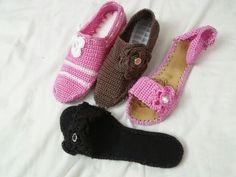 como elaborar sandalias tejidas damas - Buscar con Google