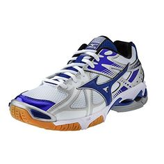 Mizuno Wave Bolt 4 Women's Volleyball Shoes - White and Royal -- Details can be found by clicking on the image.