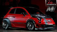fiat 500 abarth road race motorsports tuning. Nice fender flares an bonnet contrast.