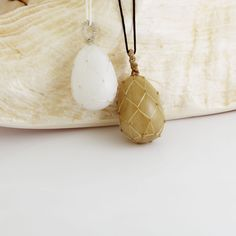 Egg stone pendant necklace, Natural stone Amethyst, Jade, Onyx, Jasper, Wrapped Stone Necklace, Beaded Necklace, Pendant Necklace, Egg Shape, Tumbled Stones, Jasper Stone, Stone Pendants, Necklace Lengths, Natural Stones