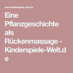 Eine Pflanzgeschichte als Rückenmassage - Kinderspiele-Welt.de