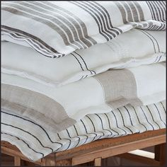 City Linen (lescreations.com): fraîcheur #monochrome #linen #home #homedesign #homedecor #decor #decoration #homesweethome #lovely #cute #textiles #textildesign #fabric #pattern #texture