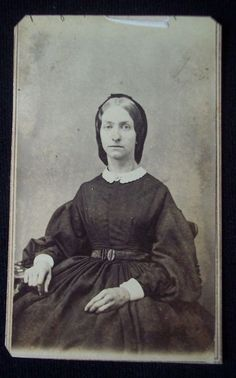 American Civil War 1864 CDV photograph & tax stamp Keeseville New York woman