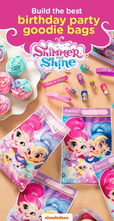 Grant your child's wish with a Shimmer and Shine themed party. Brightly colored party supplies will take guests on a magical adventure. From gifts to goodie bags, find everything you need to throw a memorable birthday bash featuring your favorite Nickelodeon show, including Shimmer and Shine goody bags and goodie bag fillers.
