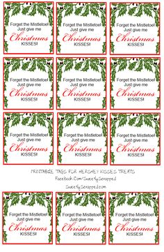 Sweetly Scrapped: Hershey Kisses tags and bag toppers! Christmas Kiss, Christmas Food Gifts, Christmas Paper, Christmas Candy, Handmade Christmas, Christmas Holidays, Christmas Ideas, Christmas Parties, Christmas Wrapping