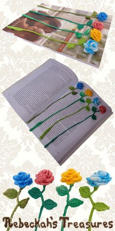 Ring Around the Rosy Bookmark | Premium Crochet Pattern by @beckastreasures with FREE video tutorials! | #rose #bookmark #crochet #pattern #tutorial #rosebud
