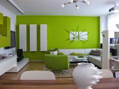Inspirierend Wohnzimmer Deko Grün