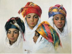 Emile Deckers(Belgian, 1885-1968) - Portraits de quatre jeuneskabyles Geographically, Kabylia is situated immediately to the east of Algiers. Mostly mountainous, the region is the home to some 5m Kabyle Berbers. Most of them are concentrated in the three Berber provinces of Tizi Ouzou, Bejaia and Bouira. Some 50 per cent of the populations of the provinces of Setif, Bordj Bou Arreridj and Boumerdes are also Kabyle speakers. Half of the 3m population of Algiers are Kabyles. Because of…