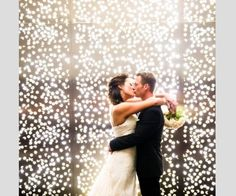 Uma cortina de luzes causa um grande efeito