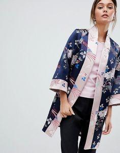 6db2ba4b9680f Ted Baker Chinoiserie Jacquard Kimono Coat