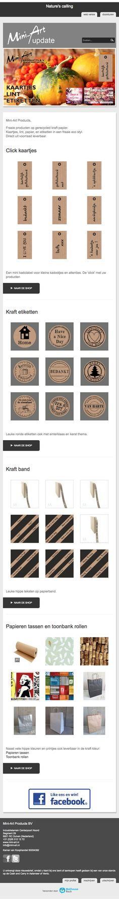 Natuurlijke materialen bij Mini-Art Mail Marketing, Mini