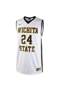 Wichita State Shockers Mens White Replica Basketball Jersey http://www.rallyhouse.com/nike-wsu-shockers-mens-white-replica-basketball-jersey-19860432?utm_source=pinterest&utm_medium=social&utm_campaign=Pinterest-WSUShockers $79.99