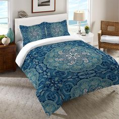 Medallion Duvet Cover from Laural Home. Saved to bedroom. Shop more products from Laural Home on Wanelo. Teal Bedding, Boho Bedding, Unique Bedding, Wall Tapestry, Teal Master Bedroom, Blanket Cover, Bed Spreads, Comforter Sets