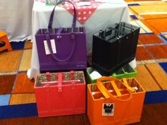 Office Candy's File Totes in fun new colors from this years Professional Organizers Conference.