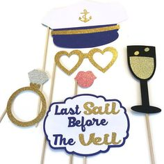 Last Sail Before the Veil Photo Booth Props 6 by CraftingbyDenise