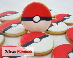 pokemon cookies- might be feasible as a cake decor for Dylan's birthday cake