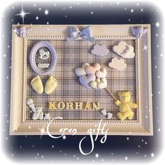 Kokulu taş pano diart&cerengifts Diy Fragrance, Handmade Frames, Box Frames, Baby Room, Decoupage, Projects To Try, Soap, Baby Shower, Candles