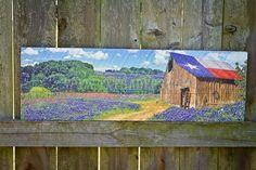 Texas barn wood painting