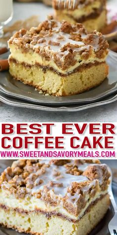 Coffee Cake recipe that you will make over and over again A buttery cake topped with cinnamon filling vanilla cheesecake and a sweet streusel topping coffeecake brunchrecipes breakfastrecipes breakfast sweetandsavorymeals recipevideo Smores Dessert, Dessert Dips, Fun Desserts, Delicious Desserts, Yummy Food, Summer Desserts, Food Cakes, Cupcake Cakes, Snack Cakes