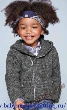 Вязаная куртка для мальчика спицами