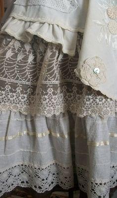 umla:  (via Flirty Antique Flax and Lace Skirt … | Fashion Plate)