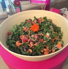 Dang That Is One Healthy Girl Kale Salad w/ Zesty Tahini-Lemon Dressing | Talia Fuhrman