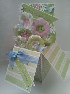 Pop up box card....have been making so many of these...I love them.