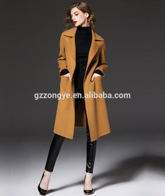 5ff25d6b44271 2015 New Style Simple Korea Style Women s Long Coat Made In China