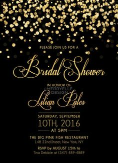 23 Best Black And Gold Invitations images Invitations