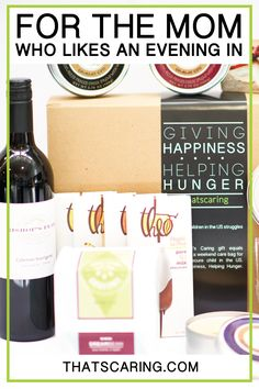 What mother doesn't like a night of relaxation, rejuvenation and, well, wine and chocolate? An added bonus, this gift donates weekend bags of food to hungry children in the U.S. #thatscaring