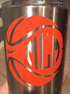 Basketball Sticker Monogram for your by SaltynSweetMonograms