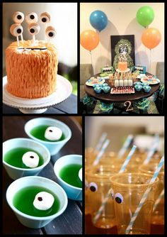 monster party - love the eyes in the jelly