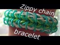 Zippy Chain in Rubber, bracelet, _by Ashley Steph, ' tutorial, 'tuto FREE video, - Rubber Bands, -rubr Rainbow Loom, = Jewelry, =jewl =bracelet, =jewl Rubber Bands, --- How to make the zippy chain rainbow loom bracelet - YouTube
