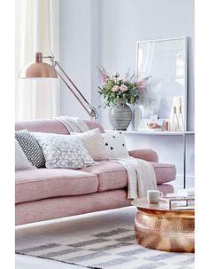 10 idées pour un salon cosy: oser les teintes pastel - Déco: 10 idées pour un salon cosy