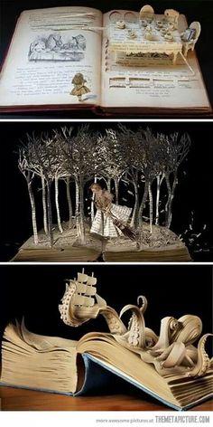 more whimsical book art...
