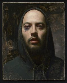A self-portrait, with a black eye after hockey. Reminds me of Albrecht Durer's self portraits. from the  National Portrait Gallery's Outwin Boochever Contest.