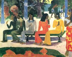 by Paul Gauguin in oil on canvas, done in . Find a fine art print of this Paul Gauguin painting. Paul Gauguin, Henri Rousseau, Henri Matisse, Gauguin Tahiti, Galerie Creation, Impressionist Artists, Oil Painting Reproductions, French Art, Vincent Van Gogh