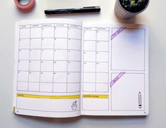 Calendario mensual Bullet Journal